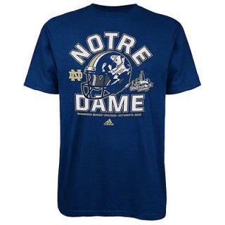 Notre Dame Fighting Irish Navy adidas Shamrock Series Helmet T Shirt