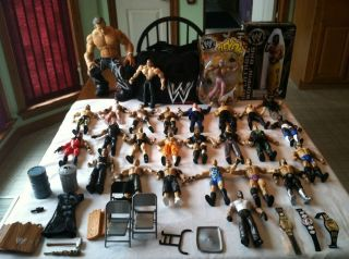 WWE ACTION FIGURES LOT OF 27 WRESTLING JAKKS PACIFIC JOHN CENA, KANE