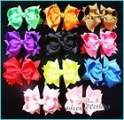 10 pcs Baby Infant Girl Costume Boutique Hair Bows Clips Xmas H1 ddedd