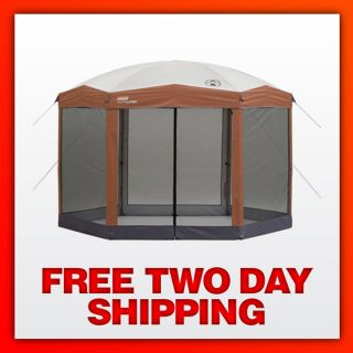 NEW & SEALED Coleman 12x10 Hex Instant Screened Shelter with Wheeled
