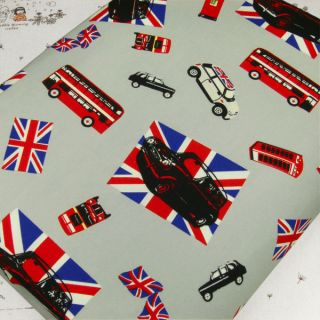 FQ   UNION JACK FLAG MINI COOPER CAR RED LONDON BUS BOX 100% COTTON