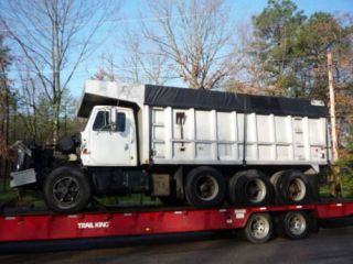 19 foot aluminum dump truck body bed box silage feed