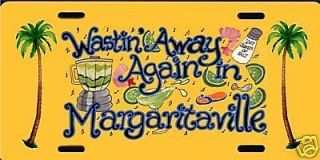 Jimmy Buffett Margaritaville Yellow License Plate 12x6 QUALITY
