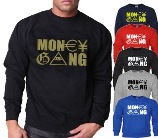 MONEY GANG SWEATER THE GAME SWEATSHIRT JUMPER ILLUMINATI EYE MENS