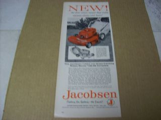 1958 Jacobsen Power Lawn Mower Advertisement, Vintage Ad