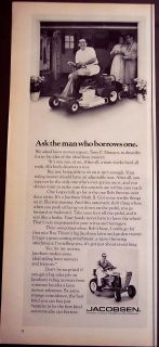1971 vintage Ad Jacobsen Mark II lawn mower expert Tony P Monaco