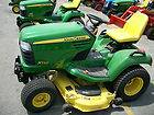 John Deere 455 Diesel Tractor Mower with Snow Blower John Deere 455