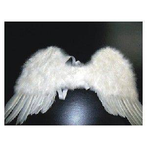 Small White Marabou & FEATHER ANGEL WINGS fairy bird costume Womens