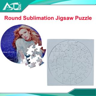 20set Blank Round Sublimation Jigsaw Puzzle Child Toy Heat Press
