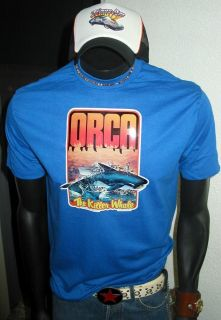 ORCA Killer Whale JAWS Shark 1977 Orig Movie PoP Culture Alien T Shirt
