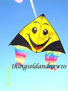 Jumping Jack Smiley Delta Kite 52 WNew 2012Family,Outdoor,Beach