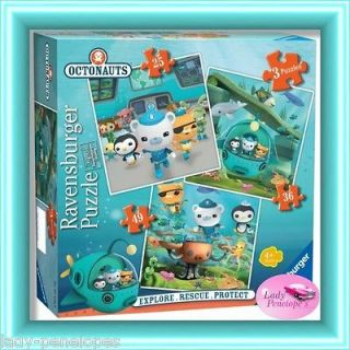 OCTONAUTS 3 JIGSAW PUZZLE 25 36 and 49 PIECES PUZZLES BARNACLES KWAKII