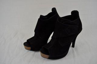 PEDRO GARCIA CHENOA BLACK SUEDE PEEP TOE BOOT (13209) EUR 35 US 5 $460
