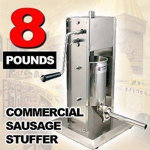 New MTN Stainless Steel Commercial SS Restaurant 3L Sausage Stuffer