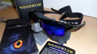 OAKLEY FLAK JACKET CUSTOM JET BLACK REVO BLUE POLARIZED SUNGLASSES NEW