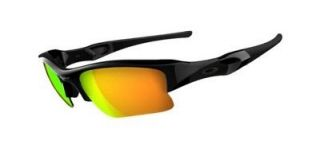 OAKLEY FLAK JACKET XLJ BLACK W/ FIRE IRIDIUM 03 899 NEW
