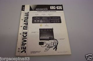 KENWOOD KRC 636 STEREO CASSETTE RECEIVER SERVICE MANUAL H/C
