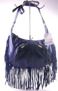 Kathy Van Zeeland Woodstock X body Handbag Purse Ink Blue one size