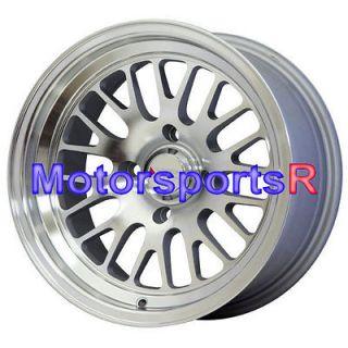 15 15x8 XXR 531 M. Silver Wheels Rims Deep Dish Lip 4x100 Stance Mesh
