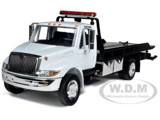 ​NAL DURASTAR 4400 FLAT BED TOW TRUCK WHITE W CHROME BED 1/24 JADA
