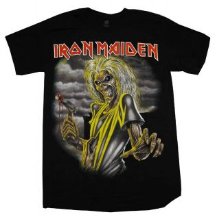Iron Maiden Killers Album Cover Rock Band T Shirt Tee