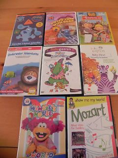 Huge Lot Kids Childrens DVDs Baby Genuis Einstein Disney Wimzie Blue