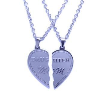 Pendant Mother & Daughter (2pcs) Stainless Steel Necklace Family Gift