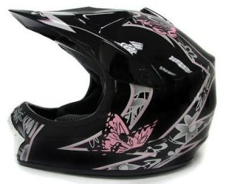 Youth Motocross Motorcross Dirt Bike MX Off Road Helmet PINK Black