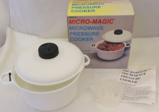 Micro Magic Microwave Pressure Cooker 10 Cup Capacity New in Box