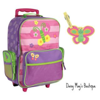 JOSEPH CHILD KIDS ROLLING LUGGAGE FOR GIRLS  BAG  WITH LUGGAGE TAG
