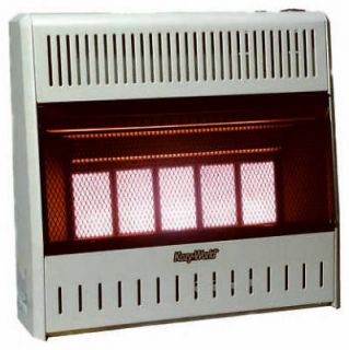 Plaque Infrared 25,000 BTU LP Vent Free Wall Heater w Variable Heat