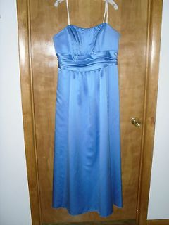 Davids Bridal Size 18 Cornflower Blue Bridesmaid Dress