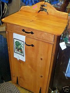 NEW** Custom Single Wood Trash Bin   choose accents