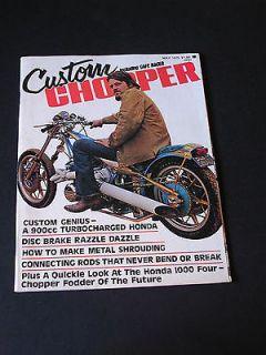 CUSTOM CHOPPER Magazine May 1975 CUSTOM GENIUS 900ccTURBOCHARGED