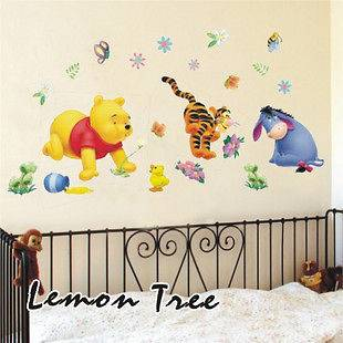 Disnep WINNIE THE POOH MURA decal Wall Paper Sticker for child kids