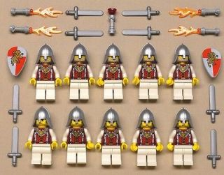 NEW 10 Lego Castle Minifigs Knights Guys Men LION KINGDOM KNIGHT