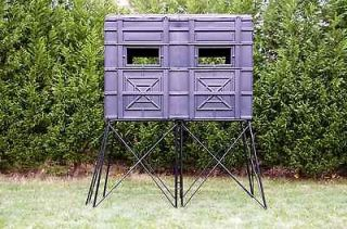Deer stand and window kit 2 man stand 4 ft by 8 ft