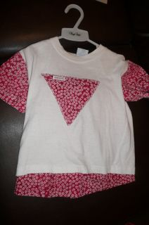 5T Baby Guess red white shorts shirt outfit VGUC boutique