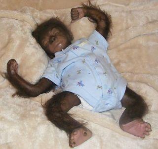 Reborn Baby Boy Gorilla Art Doll Monkey Primate
