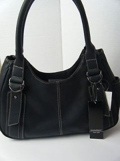 LADIES WOMENS BLACK PURSE HANDBAG BY MONDANI NEW WITH TAG $65 CLAUDIA