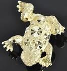 Hills 14K Yellow Gold Diamond Cut Toad Frog 3D Animal Pin Brooch