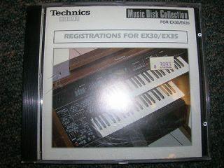 Technics Organ Software   Registrations for EX30/EX35