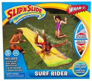 Surf Rider Water Slip N Slide Racer 16 Ft.Toy Kids Lawn Fun Game