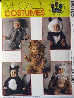 McCalls Toddlers Elephant Skunk Panda Lion Costume Pattern #6105 UC s2