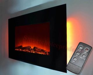 wall mounted fireplace in Fireplaces