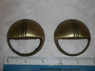 Art Deco Waterfall Dresser Vanity pulls handles knobs two (2) Brass