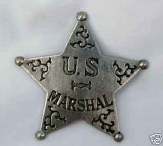 MARSHAL (5 Point) STAR  OLD WEST BADGE OBSELETE 26