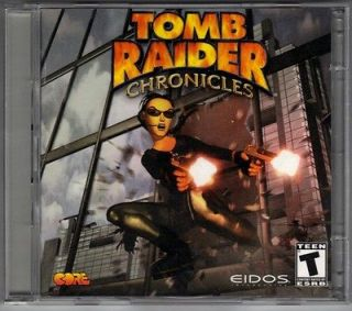Lara Croft TOMB RAIDER CHRONICLES PC Game With Strategy Guide (2000)