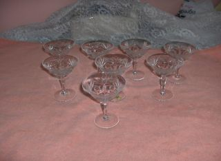 Antique Vntg Nachtmann Lead Crystal Bleikristall Cocktail Glasses