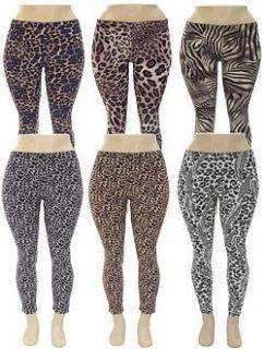 leopard print leggings in Leggings